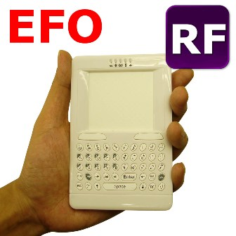 USB RF EFO Wireless Keyboard Mouse Touchpad | HTPC Remote - whit