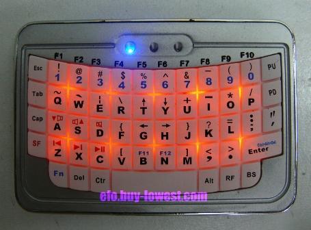 EFO Mini Bluetooth Keyboard - Backlite