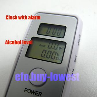 Multi-function Digital Dual Readout Alcohol Breath Tester