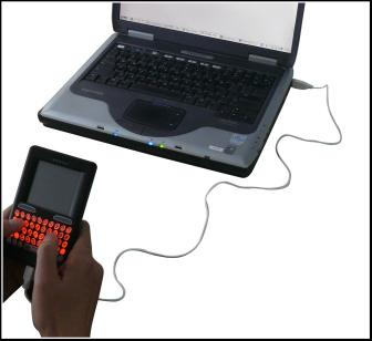 Wired Handheld Keyboard, Mouse and Touchpad connection