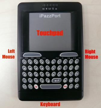 Wireless Handheld Keyboard,Mouse and Touchpad Detail