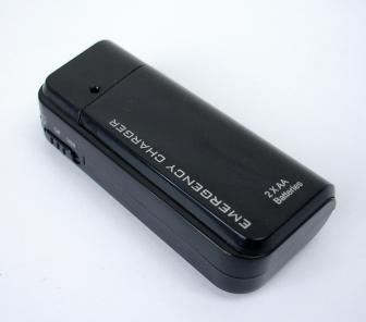 (Black) Emergency Charger for iPhone, iPod, Mobile Phone, etc