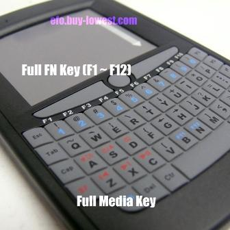 Multi-touch wireless handheld keyboard - Feature