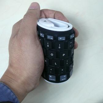 MultiTouch wireless handheld keyboard - Folding