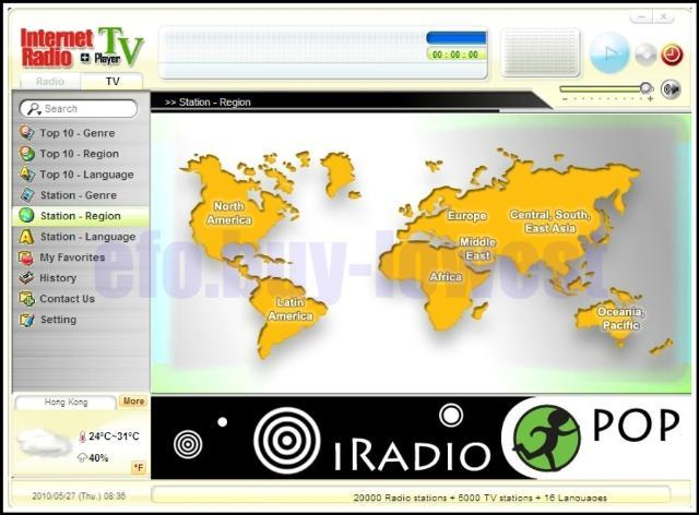 USB TV Radio Region