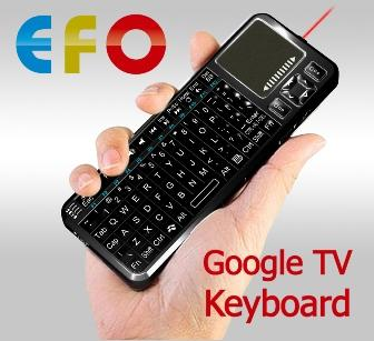 EFO iPazzPort Bluetooth Google TV Keyboard