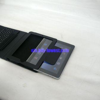 iPad Bluetooth Keyboard with folding leather protective case - install