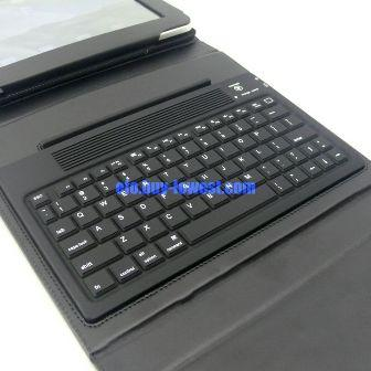 iPad Bluetooth Keyboard with folding leather protective case - keyboard