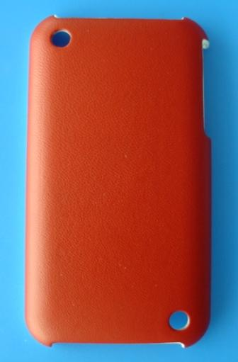 iPhone 3G/3GS Protective Back Case - Red Leather